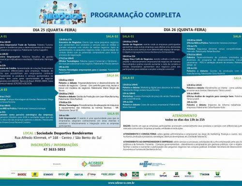Participe do Festival de Negócios – Programação